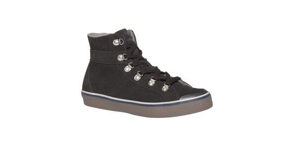 Dámské tmavě hnědé šněrovací boty TBS
