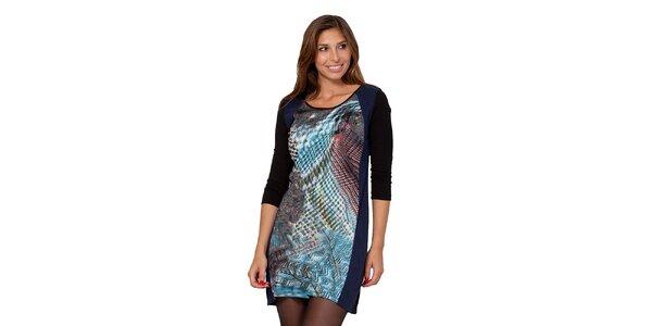 Dámské šaty s pestrým vzorem na přední straně Janis