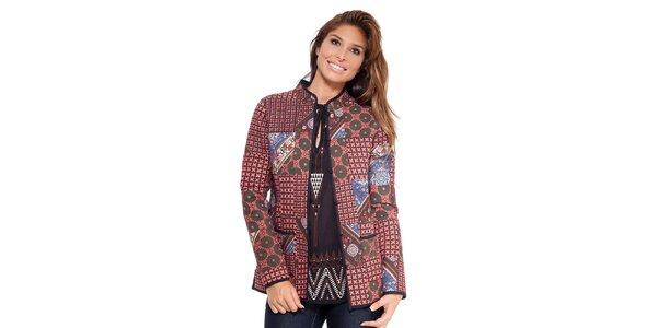 Dámský barevný kabátek s knoflíčky Janis