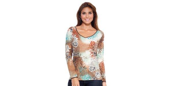 Dámské vzorované triko Janis