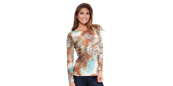 Dámské vzorované triko s dlouhým rukávem Janis
