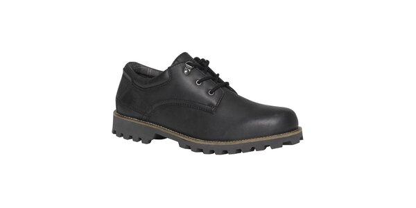 Pánské černé boty s robustní podrážkou TBS