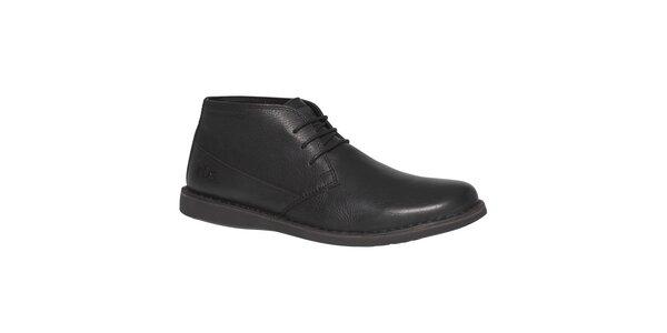 Pánské černé kotníkové boty TBS