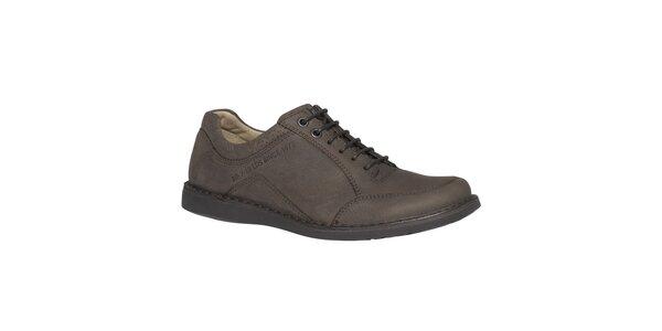 Pánské kožené šněrovací boty TBS - hnědé