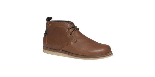 Pánské hnědé kotníkové boty TBS