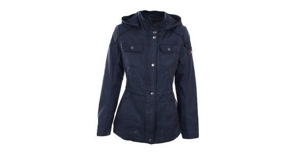 Dámská tmavě modrá bunda s kapucí Halifax