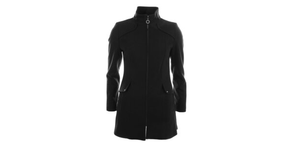 Dámský tmavý jednoduchý kabát Halifax