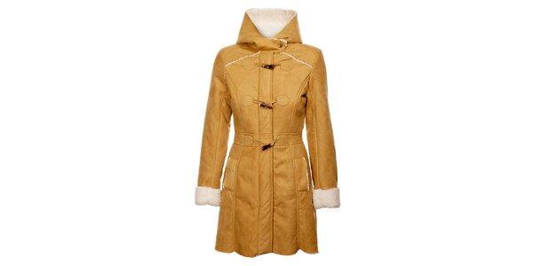 Dámský velbloudí zimní kabát Yumi s vnitřním kožíškem