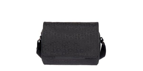 Pánská potištěná taška v černé barvě Calvin Klein