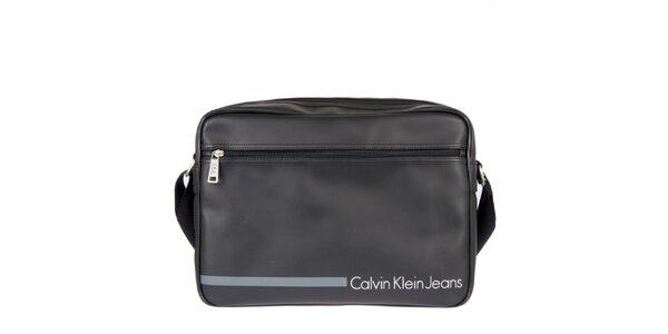 Pánská černá taška přes rameno s vnější kapsou Calvin Klein Jeans