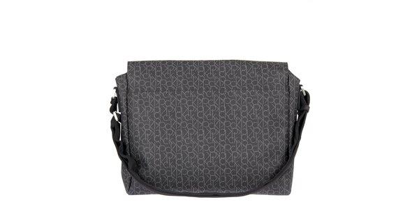 Pánská antracitová potištěná taška Calvin Klein