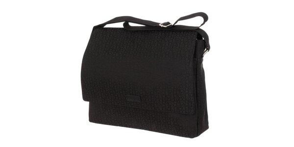 Pánská černá vzorovaná taška Calvin Klein