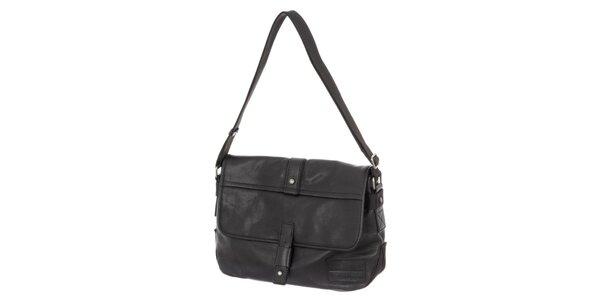 d2ffee1d88 Pánská černá kožená taška s ramenním popruhem Calvin Klein Jeans