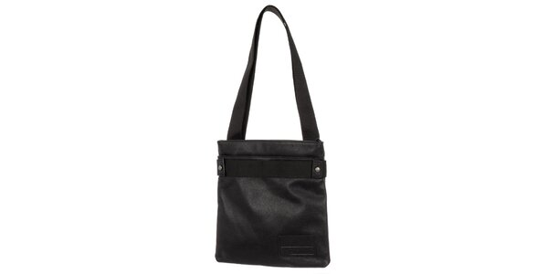 Pánská černá kožená taška přes rameno Calvin Klein Jeans