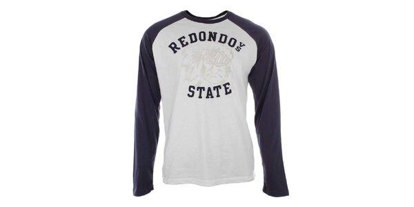 Pánské bavlněné modro-bílé tričko Timeout