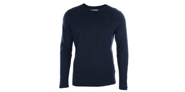 Pánské tmavomodré triko s dlouhým rukávem Timeout