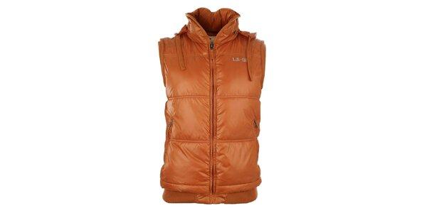 Pánská oranžová vesta Timeout