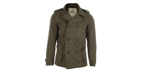 Pánský krátký dvouřadý kabát Timeout
