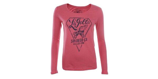 Dámské růžové tričko Timeout