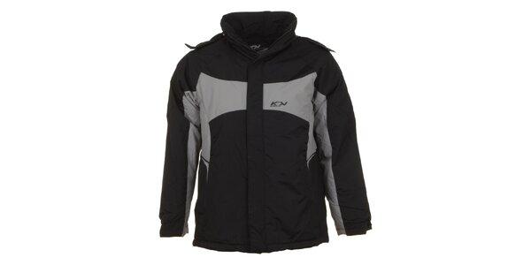 Pánská černá lyžařská bunda E2KO