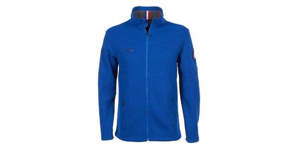 Pánská modrá bunda s fleecem E2ko