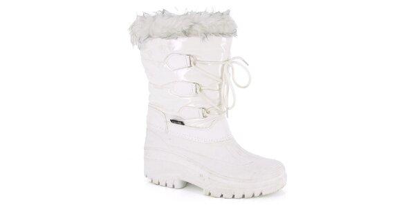 Dámské bílé zimní boty s kožíškem E2ko