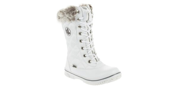 Dámské bílé zimní boty s prošíváním Vertigo
