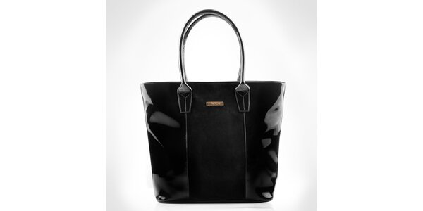 Dámská černá sešívaná kabelka Felice