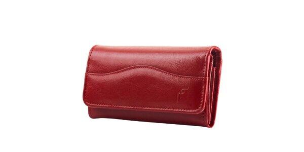 Dámská červená obdélníková peněženka Felice