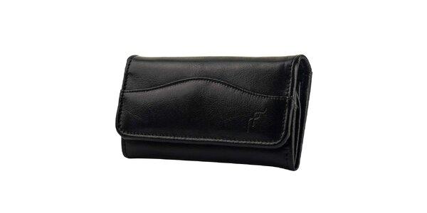 Dámská černá kožená peněženka Felice