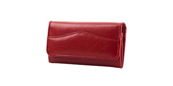 Dámská červená kožená peněženka Felice