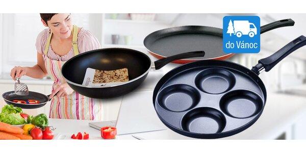 Pánve na palačinky a lívance i wok na asijskou kuchyni