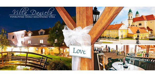Romantická dovolená pro 2 milovníky jídla a vína u Valtic