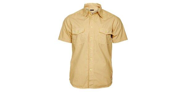 Pánská písková košile Freesoul s krátkým rukávem