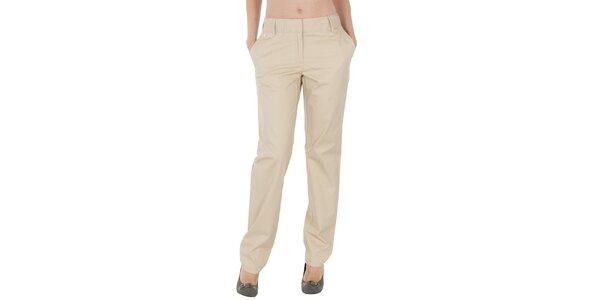 Dámské světle béžové kalhoty Tommy Hilfiger