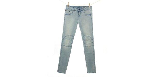 Dámské světle modré džíny Tommy Hilfiger s prošitými koleny