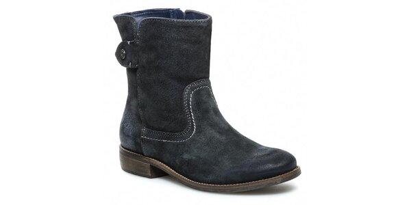 Dámské šedé kotníčkové boty se zipem Tommy Hilfiger