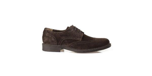 Pánské hnědé kožené oxfordky Crash Shoes