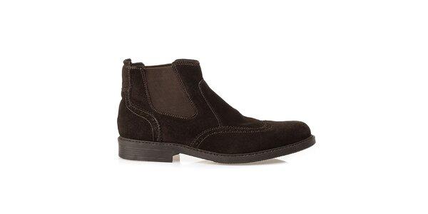 Pánské hnědé chelsea boty Crash Shoes