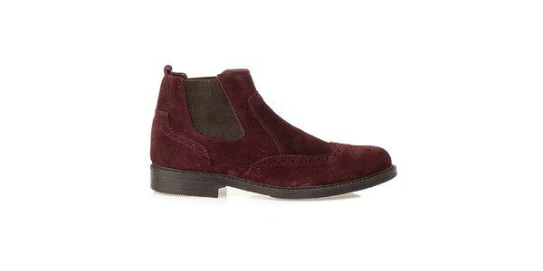 Pánské vínové chelsea boty Crash Shoes