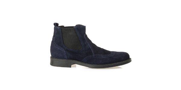Pánské modré chelsea boty Crash Shoes
