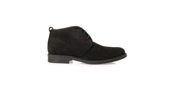 Pánské černé kožené polobotky Crash Shoes