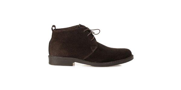 Pánské hnědé kožené polobotky Crash Shoes