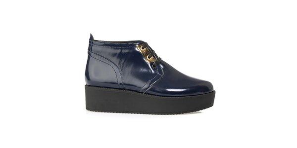 Dámské tmavě modré kotníkové boty na platformě Crash Shoes