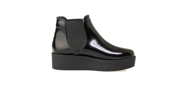 Dámské černé chelsea boty na platformě Crash Shoes