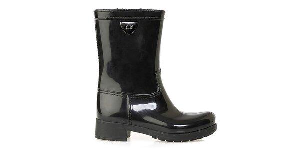 Dámské černé boty Crash Shoes - lesklé