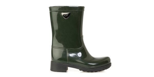 Dámské zelené boty Crash Shoes - lesklé