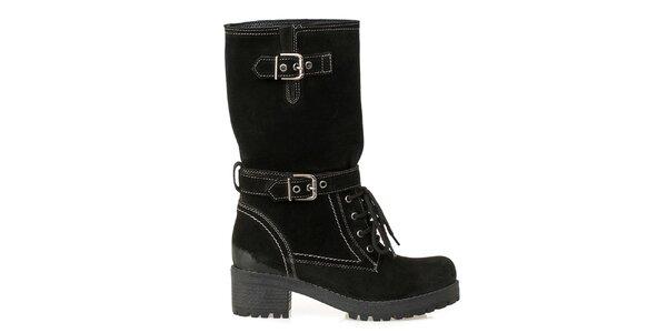 Dámské kozačky-farmářky v černé barvě Crash Shoes