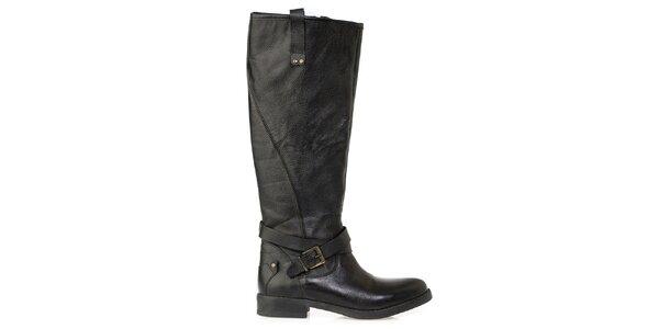 Dámské černé kozačky s dekorativním zipem Crash Shoes