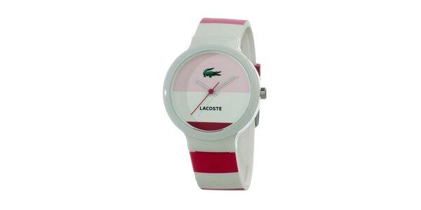 Pánské hodinky Lacoste Goa bílo-růžovo-červené